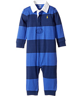 Ralph Lauren Baby - Striped Cotton Rugby Coverall (Infant)