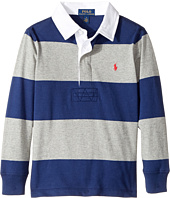 Polo Ralph Lauren Kids - Striped Cotton Rugby Shirt (Little Kids/Big Kids)