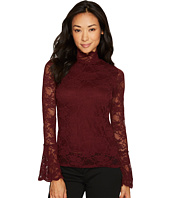 Vince Camuto Specialty Size - Petite Bell Sleeve Mock Neck Blouse
