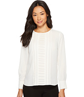 Vince Camuto Specialty Size - Petite Long Sleeve Blouse with Pintuck Pleat Blouse