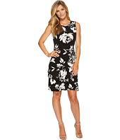 Ivanka Trump - Printed Sleeveless Matte Jersey Dress