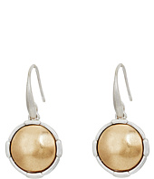 The Sak - Metal Inlay Circle Drop Earrings
