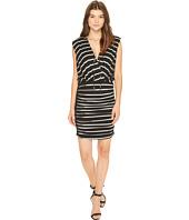 Nicole Miller - Striped Jersey Blouson Dress