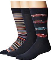 HUE - Car Socks with Half Cushion 3-Pack