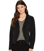 Liverpool - Moto Zip Jacket in Four-Way Stretch Comfort Twill
