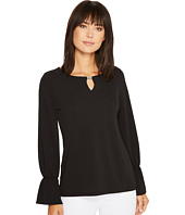 Calvin Klein - Long Sleeve Top with Flare Sleeve and Hardware
