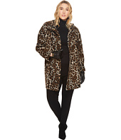 Ellen Tracy - Plus Size Leopard Print Asymmetrical Coat