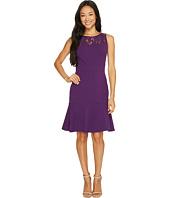Taylor - Lace Yoke Crepe Dress