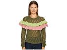 Green Ruffle Sweater