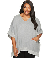 Calvin Klein Plus - Plus Size Cape with Suede Trim