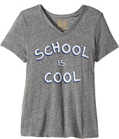 The Original Retro Brand Kids - School Is Cool Short Sleeve Tri-Blend V-Neck Tee (Big Kids)