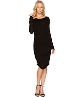 Three Dots - Luxe Slub Shirred Dress
