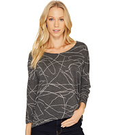 Three Dots - Squiggle Burnout High-Low Long Sleeve