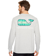 Vineyard Vines - Long Sleeve Football Field Whale Full Pocket Tee