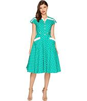 Unique Vintage - Cap Sleeve Hedda Swing Dress