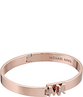 Michael Kors - Iconic Hinged MK Logo Bangle Bracelet with Hint of Glitz
