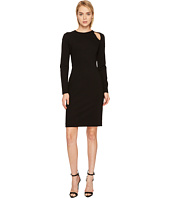 Versace Collection - Long Sleeve Cut Out Jersey Dress