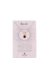 Dogeared - #Goals, Onyx Gem Toggle Necklace