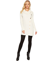 Ivanka Trump - Cowl Neck Button Sweater