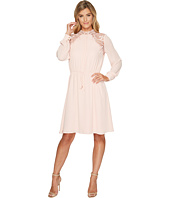 Ivanka Trump - Moc Neck Lace Trim Georgette Dress