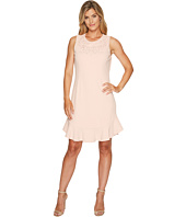Ivanka Trump - Sleeveless Scuba Crepe Mesh Lace Dress