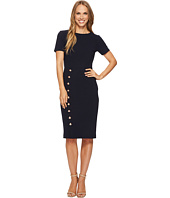 Ivanka Trump - Scuba Crepe Big Button Dress