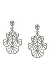 Nina - Fine Line Micro Pave Fan Swarovski Crystals Earrings