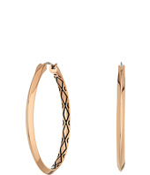 Fossil - Etched Signature Hoop Earrings