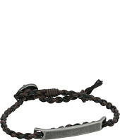 Fossil - Defender Brass and Leather Bracelet