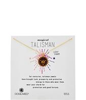Dogeared - Magical Talisman Lucky Charm, Small Elephant Maroon Enamel Talisman Necklace