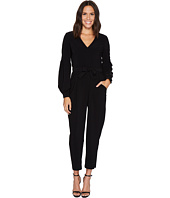 Maggy London - Lantern Sleeve Ankle Jumpsuit