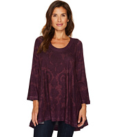 Nally & Millie - Purple Printed High-Low Tunic
