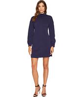Donna Morgan - Long Sleeve Mock Neck A-Line Dress