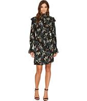 Donna Morgan - Long Sleeve Smocked Neck Dress