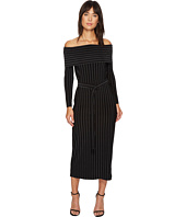 KAMALIKULTURE by Norma Kamali - Off Shoulder Straight Dress with Mid Belt