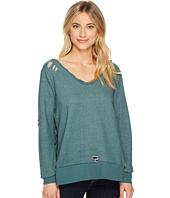 ROMEO & JULIET COUTURE - French Terry V-Neck Knit Sweatshirt