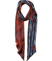 BCBGMAXAZRIA - Reversible Quilted Floral Stripe Scarf