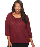 MICHAEL Michael Kors - Plus Size Mini Leaf Peasant Top
