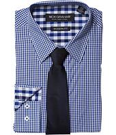 Nick Graham - Stretch Gingham Dress Shirt