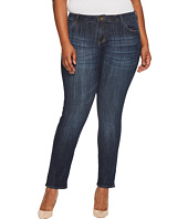 KUT from the Kloth - Plus Size Catherine Boyfriend Five-Pocket in Enticement/Dark Stone Base Wash