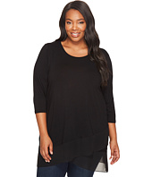 Vince Camuto Specialty Size - Plus Size 3/4 Sleeve Asymmetrical Top