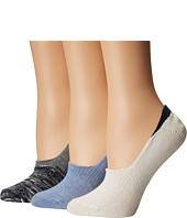 Steve Madden - 3-Pack Marled Color Block Footie