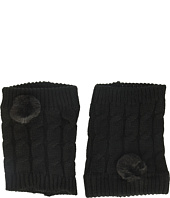 Steve Madden - Cable Boot Cuff w/ Pom Pom