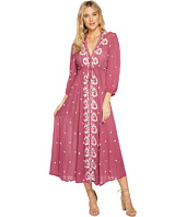 Free People - Embroidered V Maxi Dress