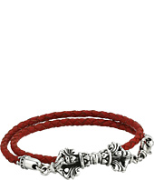 King Baby Studio - Double Wrap Leather w/ Vajra Clasp Bracelet