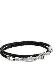 King Baby Studio - Double Wrap Black Leather w/ Vajra Clasp Bracelet