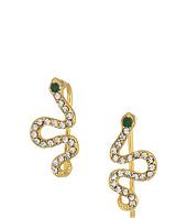 SHASHI - Snake Pave Climber Earrings