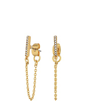 Rebecca Minkoff - Pave Bar Chain Earrings