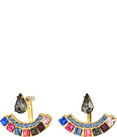 Rebecca Minkoff - Clara Stone Front Back Earrings