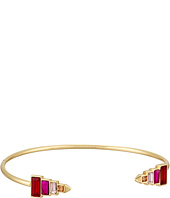 Rebecca Minkoff - Stacked Baguette Hinged Cuff Bracelet